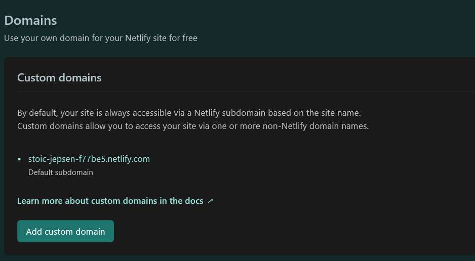 Create Custom Domain Netlify 1/3