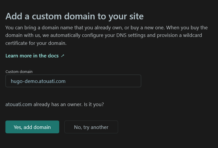 Create Custom Domain Netlify 2/3